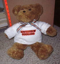 SYLVANIA SOUTHVIEW COUGARS teddy bear in sweater High School Ohio 1994 vtg