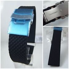 20mm RUBBER WATCH BAND FOR ORIS BC STY DIVER STRAP 20 mm w/ 18mm BUCKLE