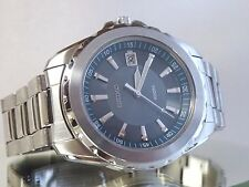 Seiko 7N42-0EL0 Men's Date Feature Stainless Steel Silver Tone Watch EXTRA LINKS