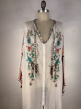 JOHNNY WAS PEACOCK SABLE BLOUSE SIZE XL NWT