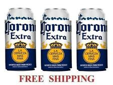 CORONA EXTRA 3 BEER CAN COOLERS KOOZIE COOLIE HUGGIE MODELO NEW