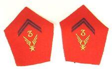 3eme Regt Hélicos de Combat - Ecussons de col Sous-Off.  pour veste mle 1952/58