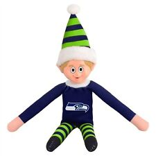 "Seattle Seahawks Plush Christmas Elf [NEW] NFL 9.5"" Doll Shelf Stuffed Toy"