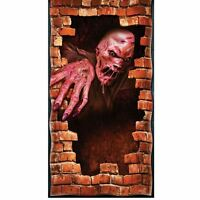 MELTING ZOMBIE Halloween Prop Party fancy dress DOOR POSTER decoration 6ft x 3ft