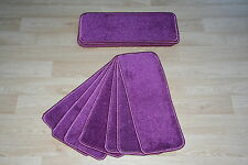 14 Purple Glitter Open Plan Carpet Stair Treads Sparkle Pads 14 Large Pads