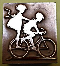 """KIDS ON BIKE"" PRINTING BLOCK."