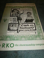 CASH ON DELIVERY(1954)SHELLY WINTERS ORIG PRESSBOOK +