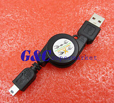 Brandnew Retractable Data Transfer USB Male to Mini USB B 5-Pin Charging Cable
