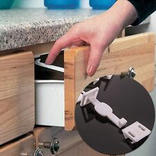 LARGE CHILD PROOFING LATCH Secure Cupboard/Drawer Lock Catch Baby/Toddler Safety