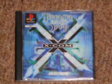 X COM TERROR FROM THE DEEP ULTRA RARE PS1 GAME COMPLETE G.C.