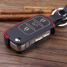 3BT Leather Remote Key Chain Fob Holder Case Cover For Golf Jetta Touareg lt