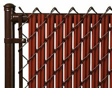 Chain Link Redwood Single Wall Ridged Privacy Slat For 4' High Fence Bottom Lock