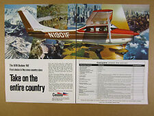 1970 Cessna Skylane 182 aircraft airplane photo vintage print Ad
