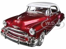 1950 CHEVROLET BEL AIR METALLIC DARK RED CUSTOM 1/18 MODEL CAR BY MOTORMAX 79007
