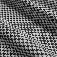 Black & White Woven Houndstooth Polyester Fabric (Per Metre)