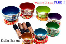 Tibetan Chakra Singing Bowl - Meditation Bowls - Set of 7 - Color Buddhist Bowl