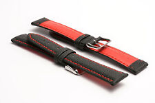 Hadley-Roma 20mm Sailcloth Lorica Watch Strap - Red