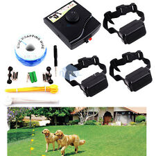 In-Ground Underground Waterproof 3 Shock Collars Electric Dog Fencing System Kit