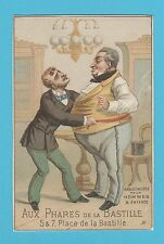 FRENCH ADVERTISING - CLOTHING  - RARE ADVERTISING CARD - C 1880's - 1890's