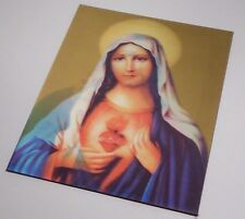 "Jesus & Mary Hologram Picture 8"" x10"" NEW"