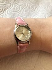 NWOT-NEW CHARLES RAYMOND PINK FAUX CROC-DESIGN WATCH