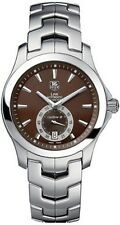 NICE TAG HEUER LINK WJF211C.BA0570 AUTOMATIC CALIBRE 6 MEN'S STEEL BROWN WATCH