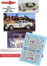 """DÉCALS 1/18 ref 544 Porsche 911 sc """"Boss"""" Monte Carlo 1983"""
