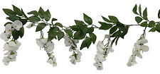 Wisteria Garland ~ WHITE ~ Silk Wedding Flowers Arch Gazebo Decorations NEW!