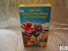 Sesame Street What's the Name of that Song? VHS