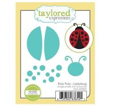 Taylored Expressions Cutting Die Set ROLY POLY ~ LADYBUG Circles, Critter ~TE809
