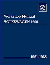 VW Beetle Bug Karmann Ghia Shop Manual 1961 1962 1963 1964 1965 Repair Service