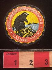 Vtg Don BELAND'S WILDERNESS CANOE TRIPS Ely Minnesota Patch 60Y2