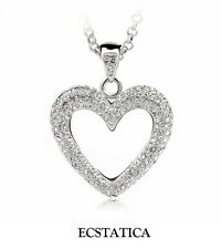 Ecstatica™ White Heart Window Pendant Necklace