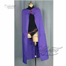 Anime Manga Hero Teen Titans Raven Cosplay Costume Made