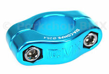 "Dia-Compe MX 2 PIECE old school BMX bicycle seat post clamp - 25.4mm (1"") BLUE"