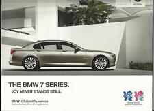 BMW 7 serie (inc.. M SPORT, individuale & LWB) SALES BROCHURE marzo 2012