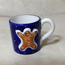 Starbucks Embossed Relief Gingerbread Man Serna Deruta Mug Cup Christmas Italy