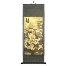 Peinture chinoise, tableau chinois à suspendre, dragon