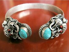 Women's Antique Tibetan Silver Dragon Bangle Xmas Christmas Gift Wife Daughter