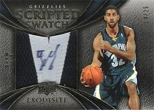 O.J. Mayo 2008-09 Exquisite Scripted Swatches Autograph 2-Clr Patch RC 4/25 Auto
