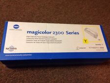 GENUINE KONICA 1710517-006 YELLOW TONER CARTRIDGE MAGICOLOR 2300 SERIES SEALED