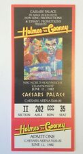 Holmes Vs Cooney Championship Fight Full Ticket 6/11/1982
