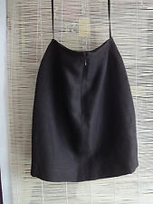 L144/07 Linda Allard Ellen Tracy Brown Linen Blend Petite Mini Skirt ,size 6