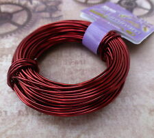 Craft Wire 18gauge (1.02mm) Beadsmith Aluminium Wire Ox Blood Red