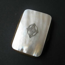 PORTE MONNAIE XIXè NACRE MONOGRAMME CD ARGENT PURSE MOTHER OF PEARL 19thC