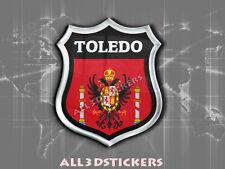Pegatina Emblema 3D Relieve Bandera Toledo - Todas las Banderas del MUNDO