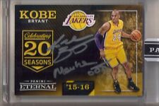 "2016 Panini Eternal Kobe Bryant Inscribed On Card Auto ""Mamba Out"" #1/8 Lakers"