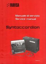 FARFISA Syntaccordion Service Manual Repair Schematic Diagram Schaltplan PCB lay