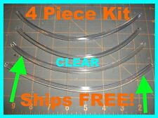 (4 piece kit) 8'' CLEAR DOOR EDGE GUARDS  fits: (Toyota Camry & Corolla)