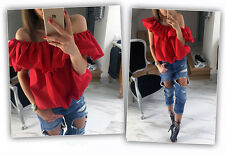 Fashion Women Sexy Off Shoulder Casual Blouse Summer Tops Beach T Shirt